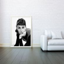 Audrey Hepburn, Decorative Arts, Prints & Posters,Wall Art Print, Poster Any Size - Black and White Poster